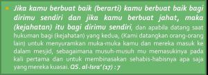 QS Al-Isra' Ayat 7 arti ibadah minimalis