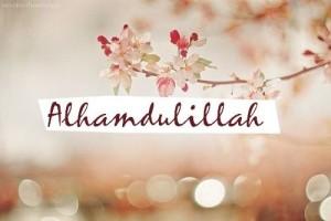 tanda syukur alhamdulillah