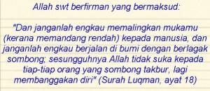 rasa bangga diri final surah luqman, ayat 18