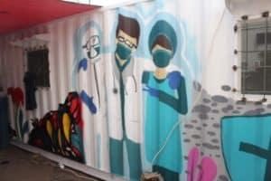 Mural Ramaikan Kontainer Laboratorium: Pesan Semangat Bagi Seluruh Elemen Masyarakat
