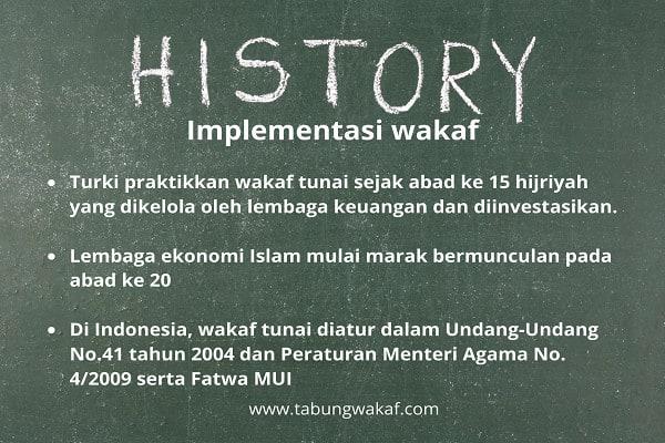 Implementasi dan sejarah wakaf tunai dari waktu ke waktu - zakat.or.id