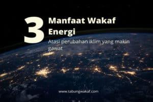 wakaf energi atasi perubahan iklim